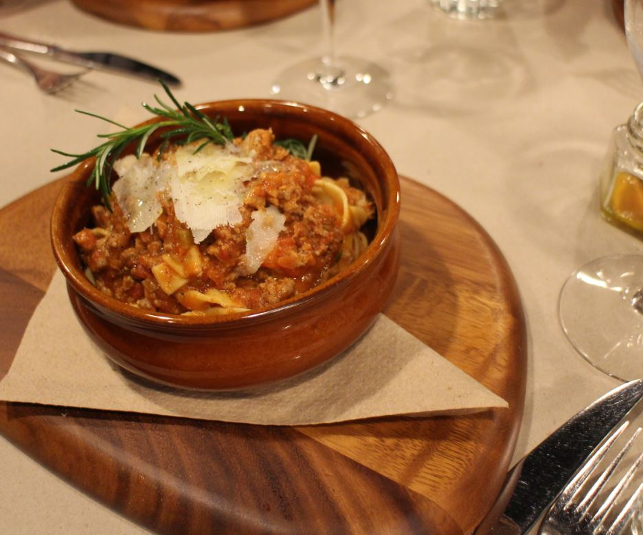 A family special ~ slow cooked lamb leg ragu with fettucini finished with shaved pecorino