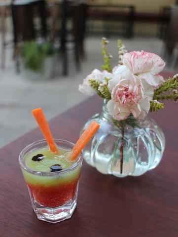Amuse bouche - a delicate gazpacho