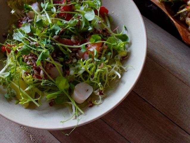Spanner crab salad, orange, buttermilk, herbs