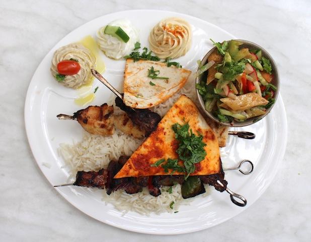 Rotana Samobousik Lebanese Grilled Mixed Plate