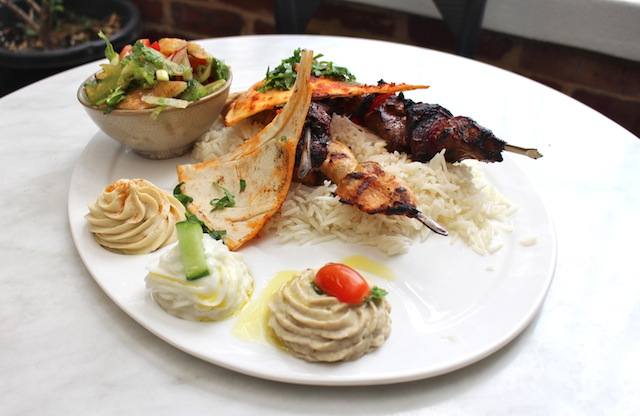 I thought the Grilled mixed plate was awesome value considering what you usually get for $24 at the pub. A mix of beef, chicken and lamb skewers served with rice,fattoush, pita, hommous, garlic dip and baba ghanouj.