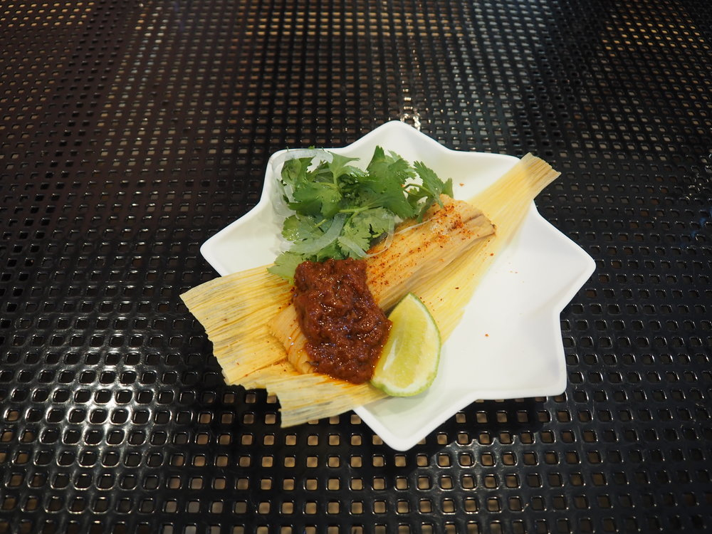 Bean Tamale, Charred Red Tomato - inspired by Enrique Olvera (Pujol, Mexico City), MasterClass 2013