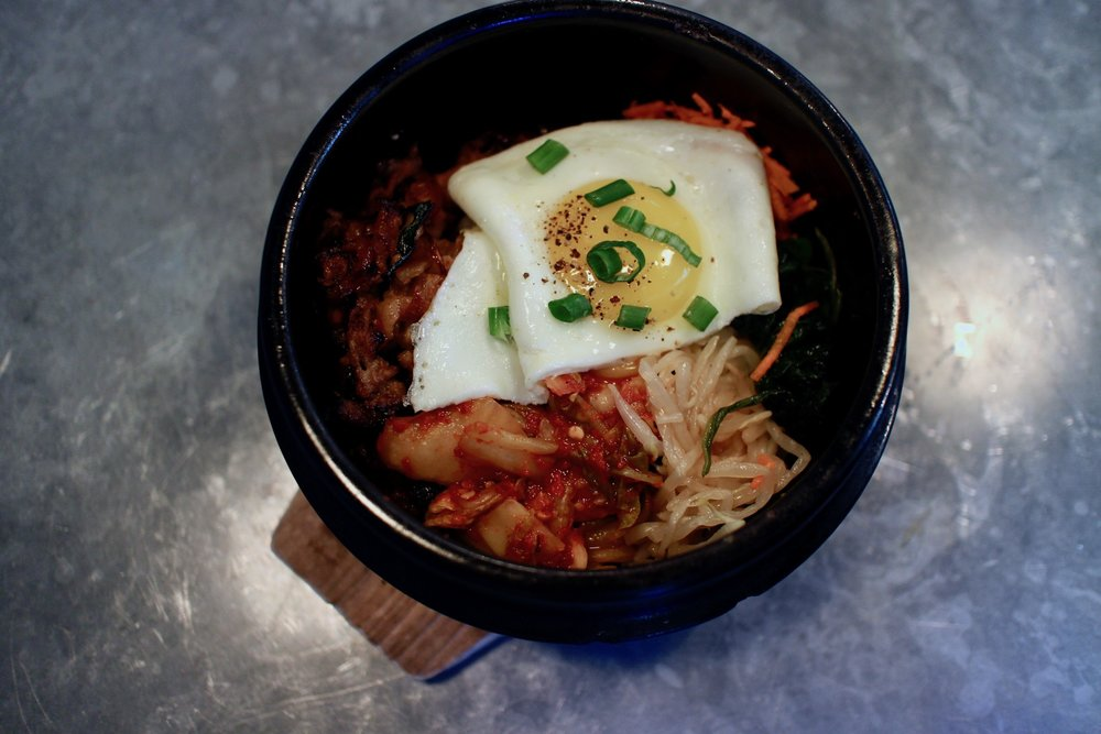 Bim Bop Bacon & Eggs... stir like crazy