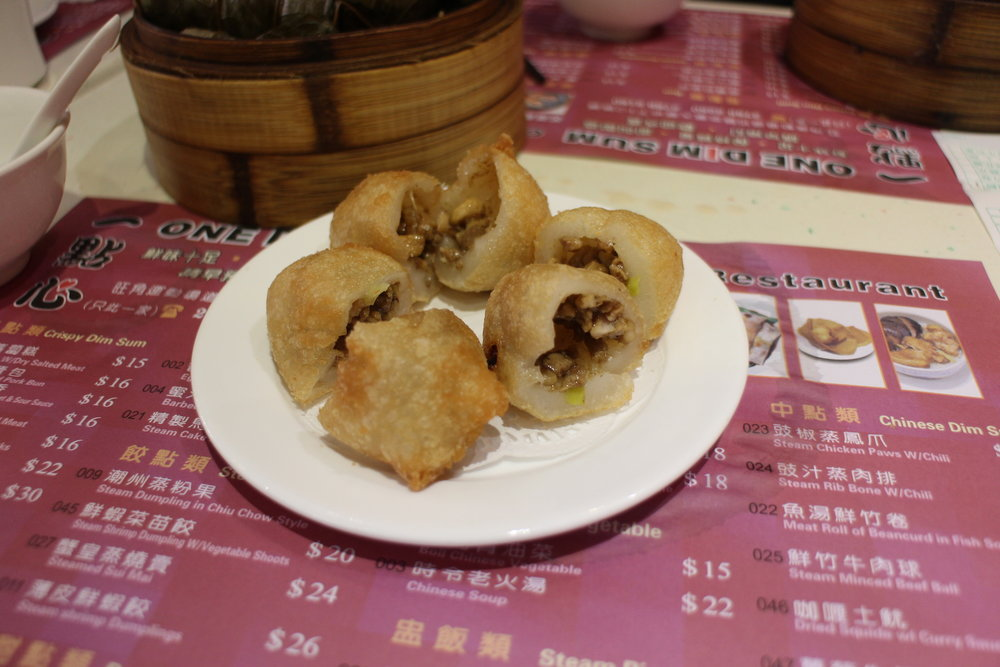 Fried Dumpling with Salted Meat or  Harm Shui Kok