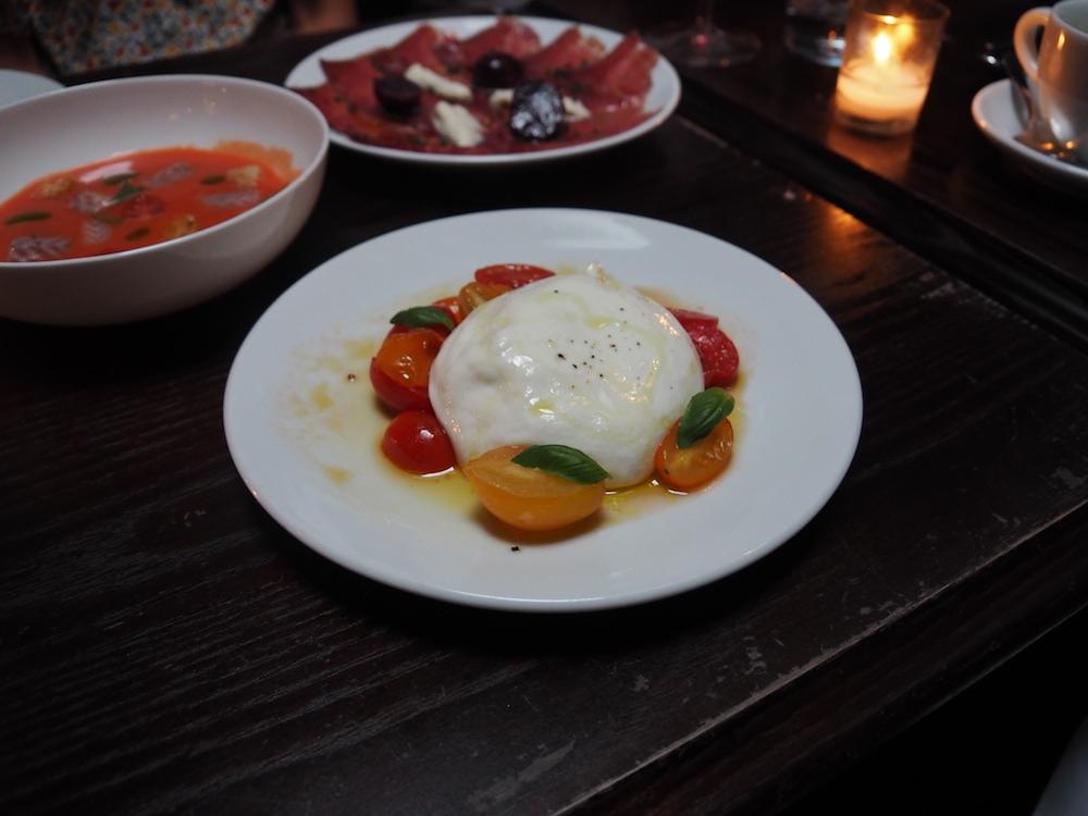 Burratina, Datterini, tomato and basil