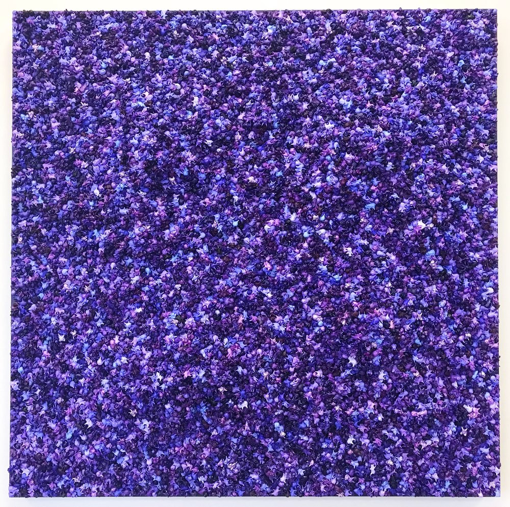 "Purple People 36""x 36"""