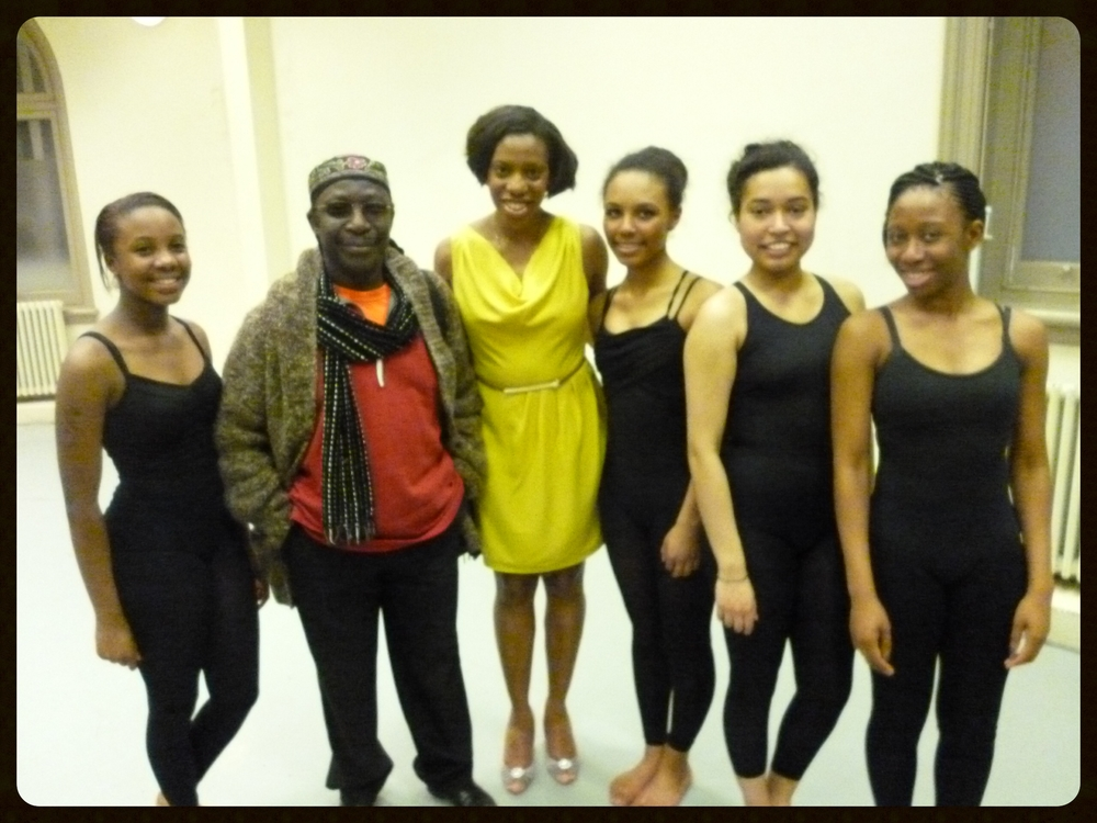With dance legend Carl Campbell, founder of the Carl Campbell Dance Company