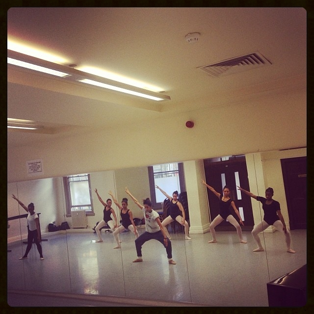 Sarah Kundi teaching Ballet Black repertoire