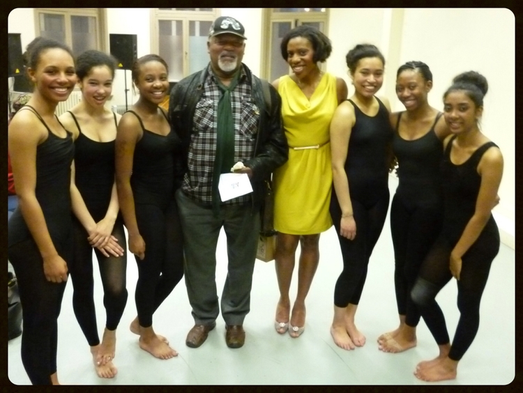 With dance legend, Namron, OBE