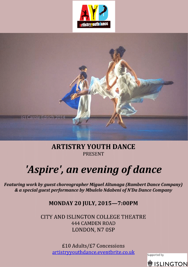 Artistry Youth Dance presents Aspire