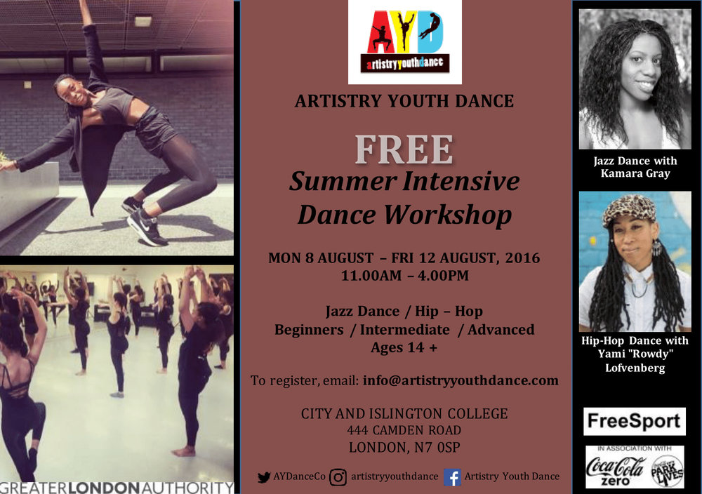 Artistry Youth Dance Summer Workshop