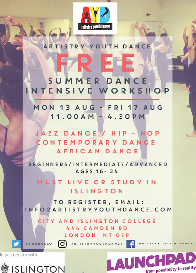 Artistry Youth Dance - Summer Dance Intensive
