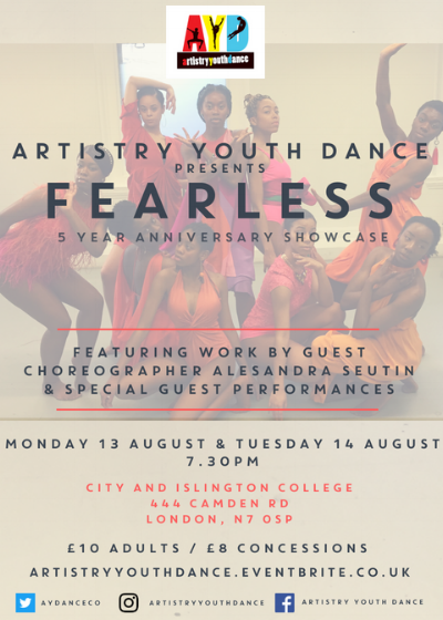 Artistry Youth Dance presents Fearless.png
