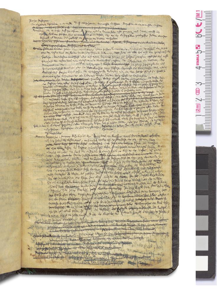 Erste Notizen zu Pariser Passagen (1927) aus Walter Benjamins Blauem Notizbuch © Hamburger Stiftung zur Förderung von Wissenschaft und Kultur