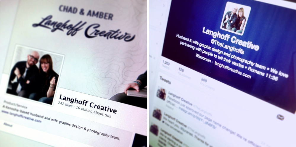 Langhoff Creative is on Facebook, Twitter and Instagram