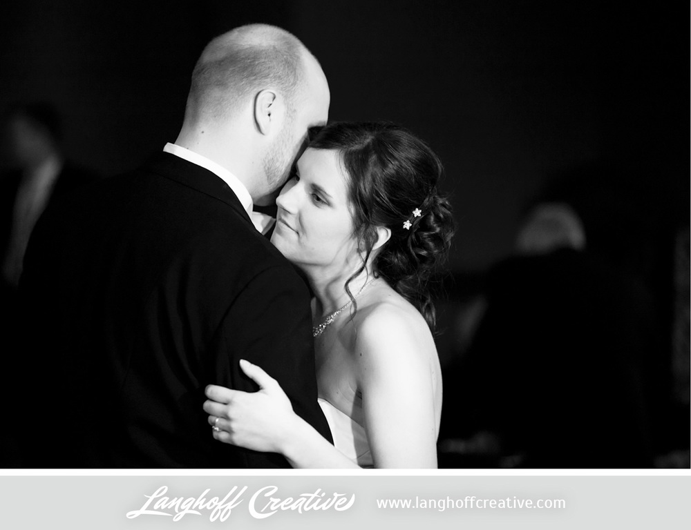 Gorgeous! Eric and Julie enjoying a tender moment during their first dance as husband and wife.