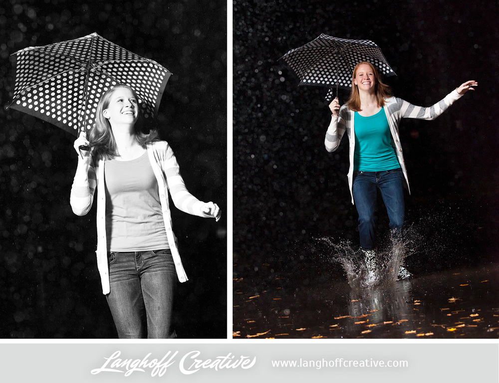 """Megan doesn't have a problem finding ways to have fun. I absolutely love these shots of her playing in the rain! Other things she loves? Well, she could watch the movies 'Mean Girls' or 'Baby Mama' a thousand times and still laugh. And, hands down, Megan's favorite food is chocolate or anything sweet. """"I have a MAJOR sweet tooth!"""""""