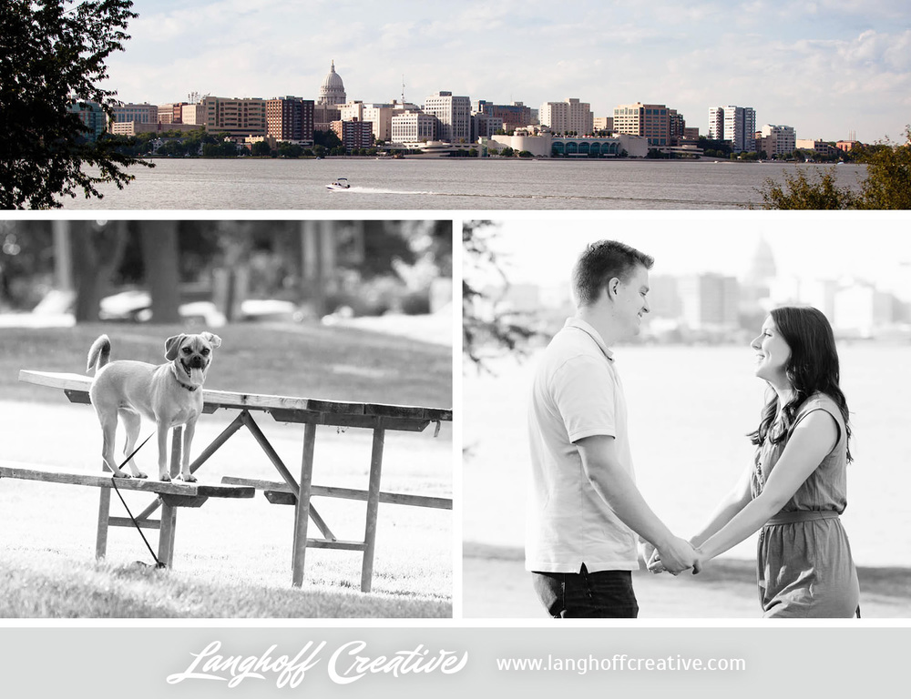 Jon and Amy chose Olin Turville Park in Madison for their engagement session. It has a gorgeous view of Wisconsin's capital building and surrounding areas from across Lake Mendota. Jon graduated from the University of Wisconsin—Madison in 2009 and Amy currently teaches 1st grade in Madison. The city is special to them!