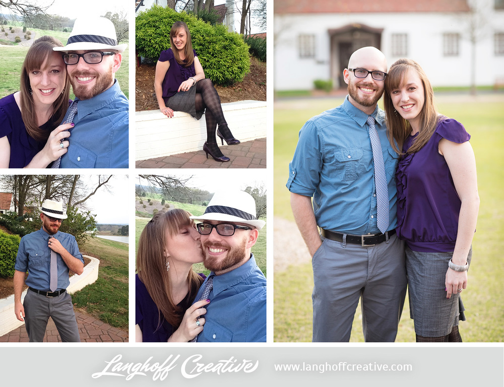 Photo credits: Left four are our iPhone selfies, the right is by Maison Meredith Photography Wednesday night was Date Night! We enjoyed getting all dolled up for each other. Thanks to these fun photos from Maison, I'm finally convinced that we do clean up pretty nicely... ;)