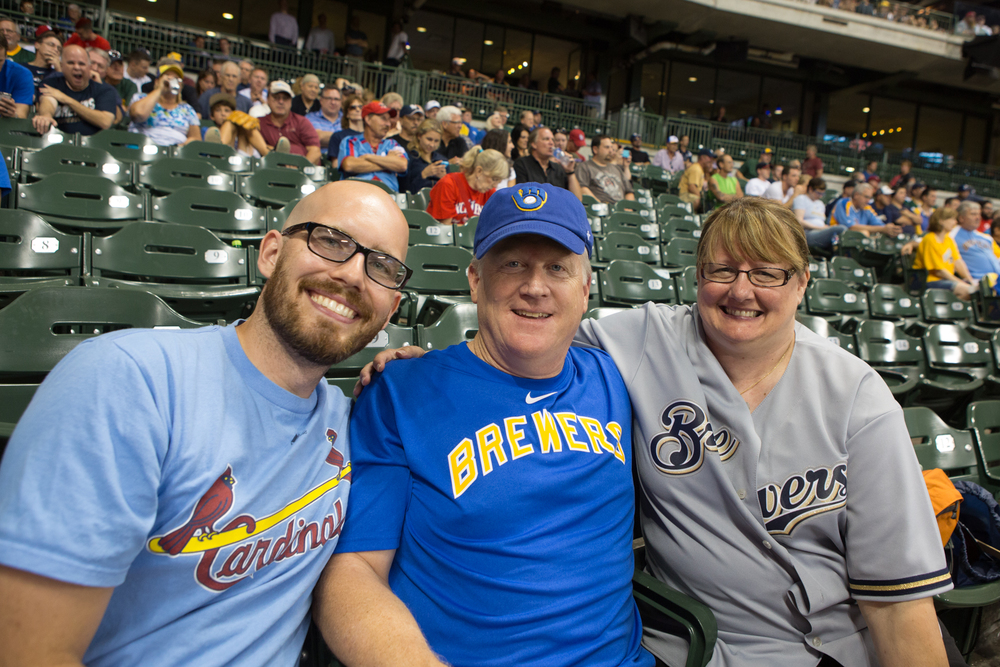 Lew and Carol have been great friends from our church. A surprise Brewers/Cardinals seat-upgrade from them made this night extra special.