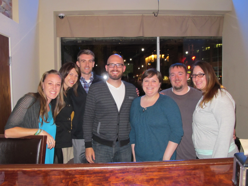 These are some of our favorite people! Sam & Kyle, Bekah & Steve and Nicole. We love them all!