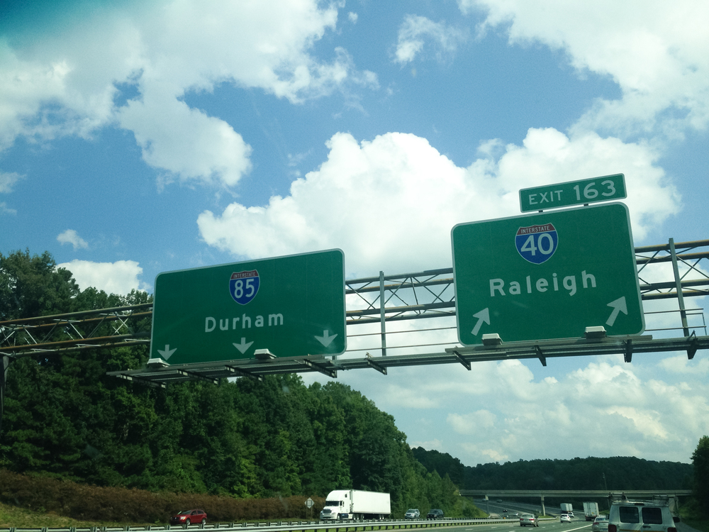 """Home stretch"" to Raleigh. At this point, we were beyond excited!"