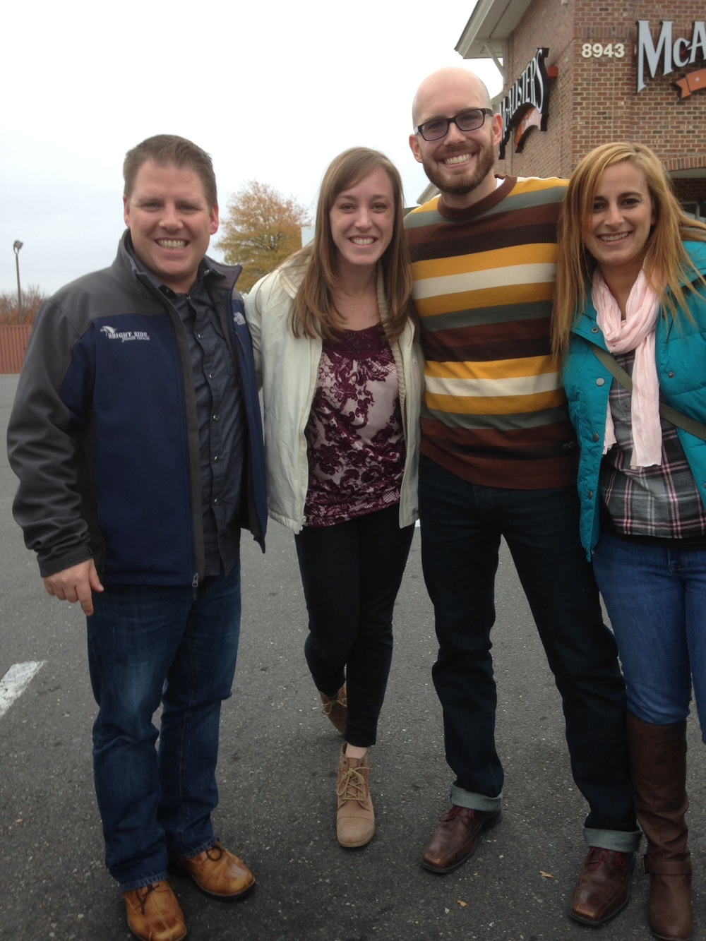 This is Chad and I with Devin and Tia after lunch, before we headed home to Raleigh.