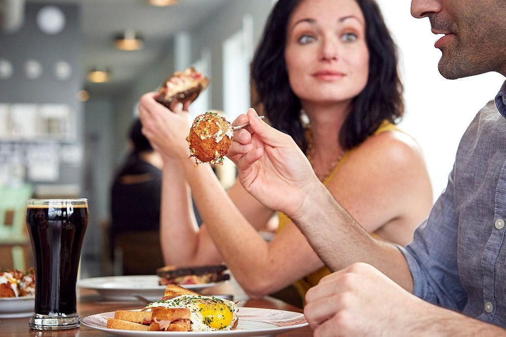food with people commercial photography chicago