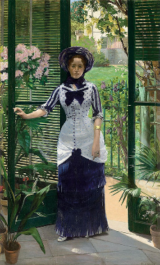Albert Bartholomé (French, 1848–1928)   In the Conservatory (Madame Bartholomé) , ca. 1881