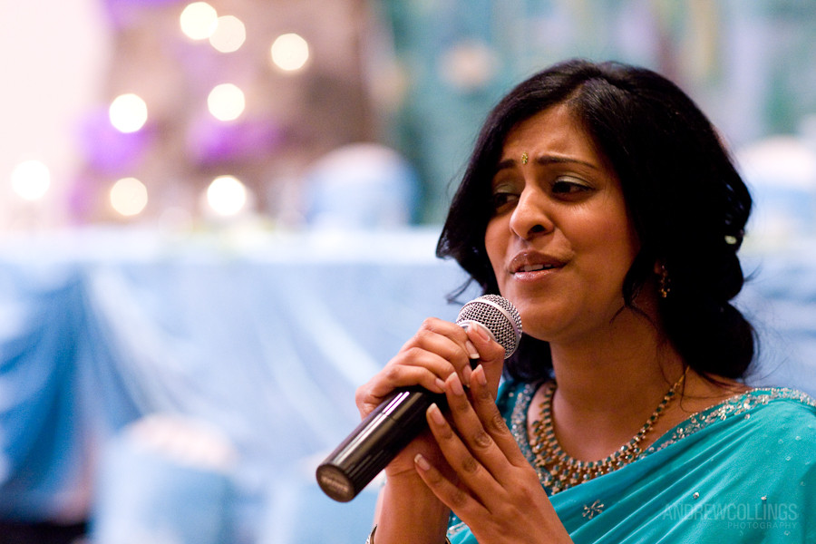 Super Sister and Maid of Honor Nisha sang at both the Ceremony and Reception and wowed the crowd twice!