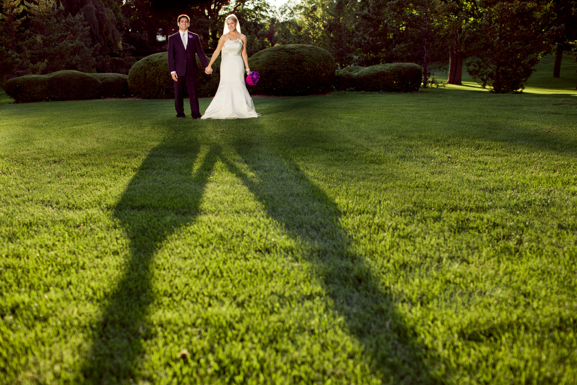 Wedding photograph at Cantigny Park, Wheaton, IL. August 27, 2011
