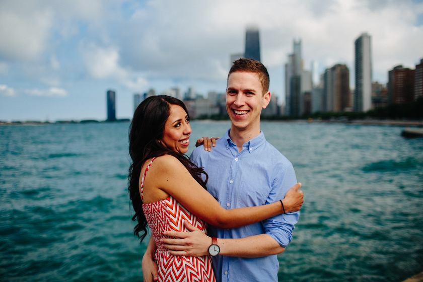 Engagement portrait on location. Chicago Lakefront-North Avenue Beach, Chicago, IL. May 30, 2012.