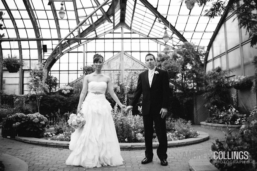 Wedding photograph at Lincoln Park Conservatory, Chicago, IL. May 12, 2012
