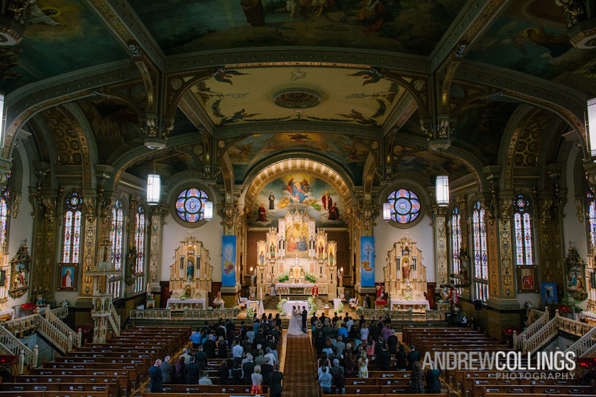 Wedding photograph at Holy Trinity Catholic Church, Chicago, IL. May 12, 2012