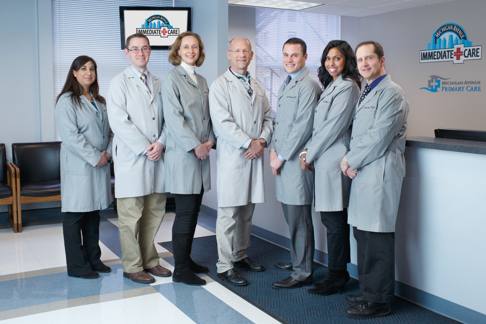 Michigan Avenue Immediate Care: Physicians Group photographed at Michigan Avenue Immediate Care, , IL. February 16, 2013. Photo by Andrew Collings.