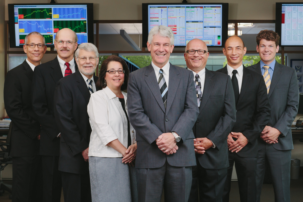 Trading firm group portrait. Photo by Andrew Collings.