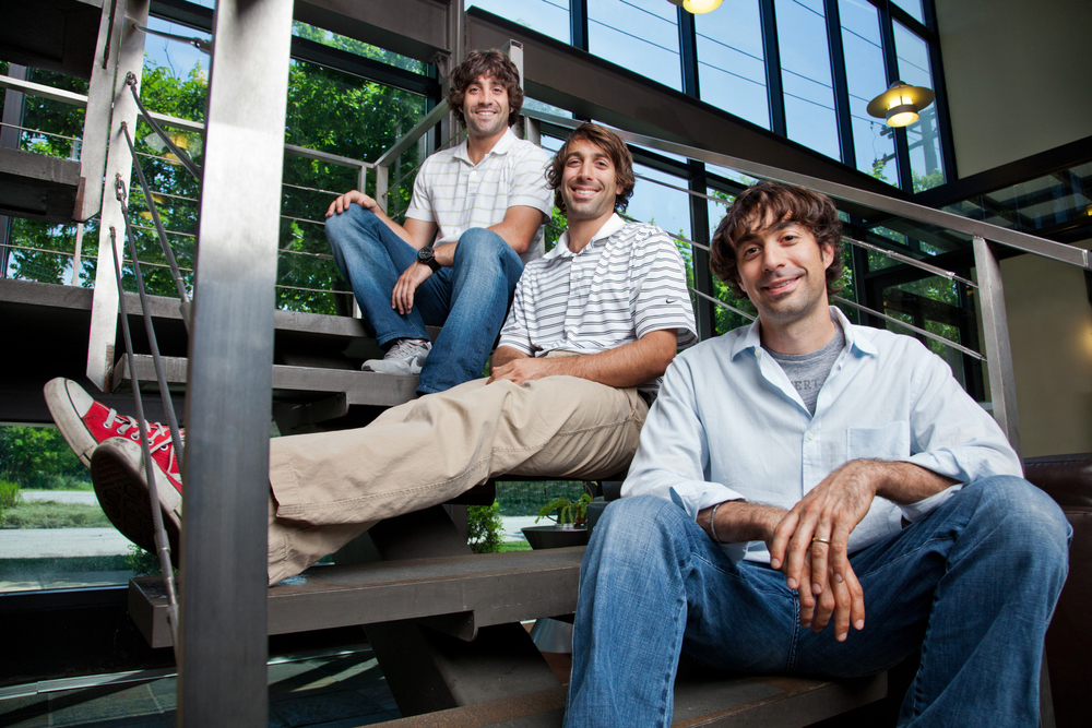 Casual portrait of the Rosenband brothers, executives of Morgan Li. June 30, 2011. Photo by Andrew Collings.