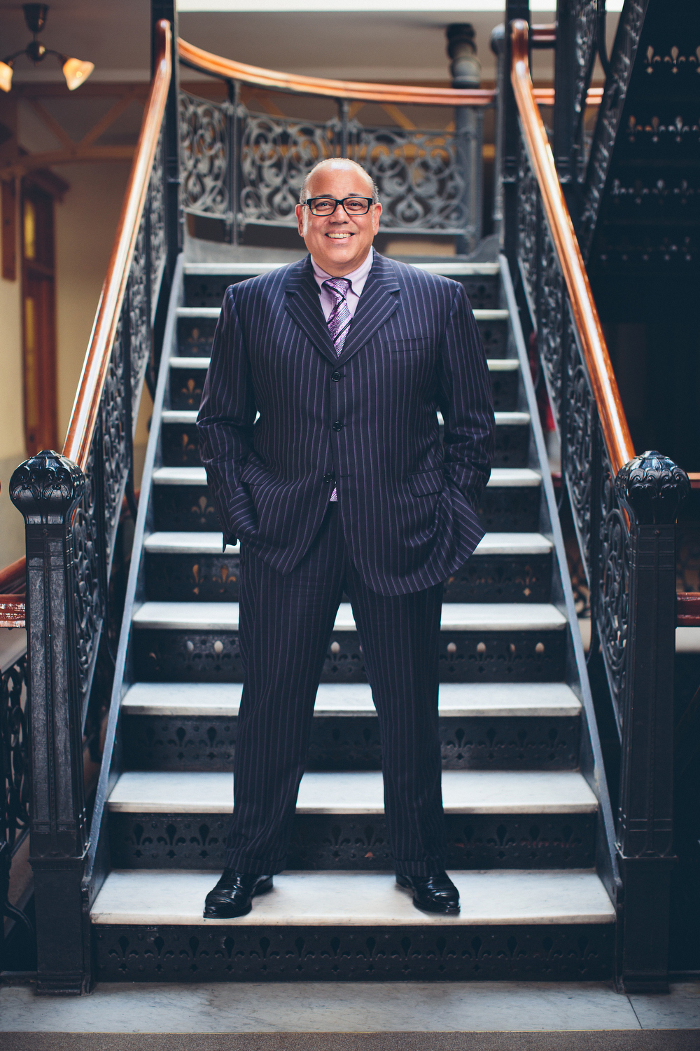 Attorney Portrait on Monadnock Building Stairs