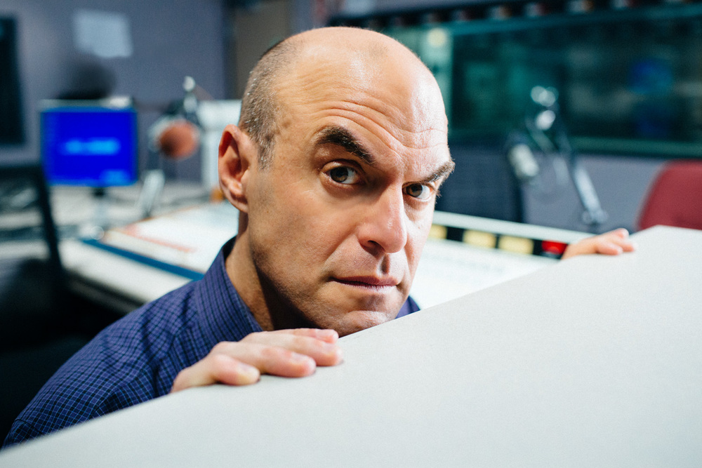 Portrait of Wait Wait...Don't Tell Me! host Peter Sagal.