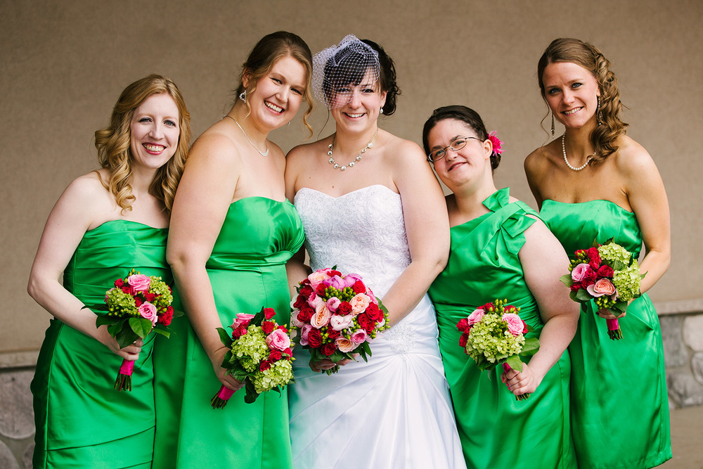 bridesmaids at cragun's legacy in brainerd