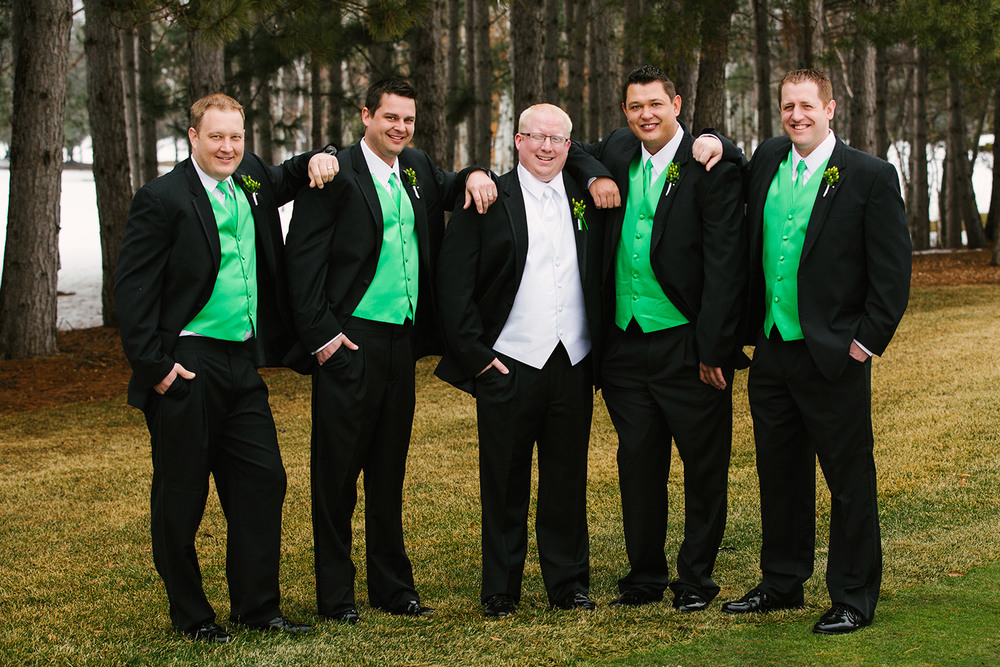 groomsmen at cragun's legacy wedding