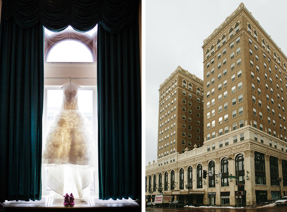 Duluth, MN Greysolon Ballroom Winter Wedding