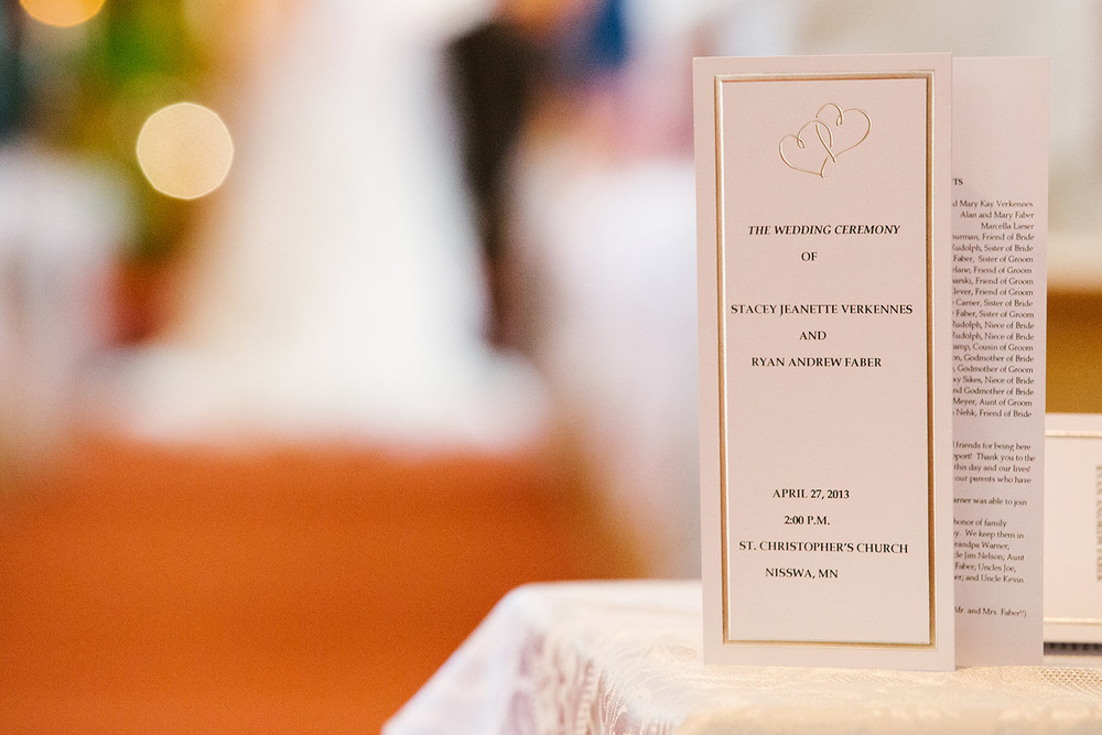 Saint Christopher's Nisswa Wedding and Cragun's Resort Reception