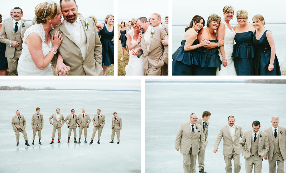 Wedding images in and around Breezy Point Resort