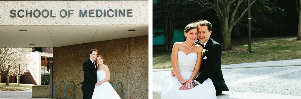 University of Minnesota Duluth wedding portraits at the Medical School