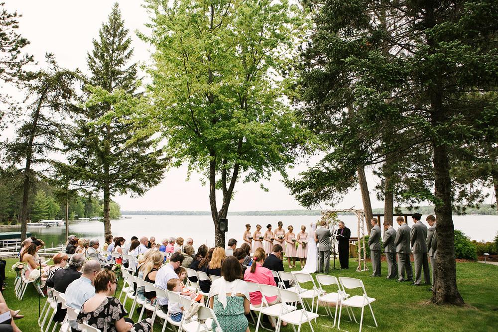 reed bailey crosslake minnesota outdoor lake wedding