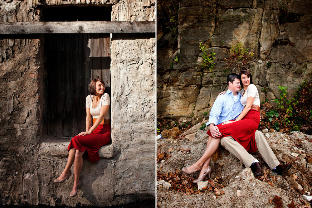 outdoor engagement session in northern, mn