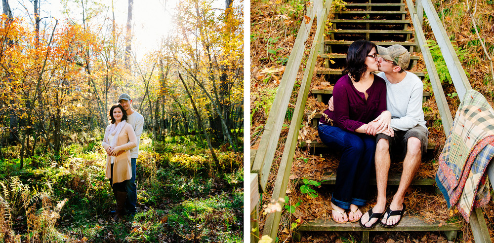 Gull Lake Fall Engagement Session