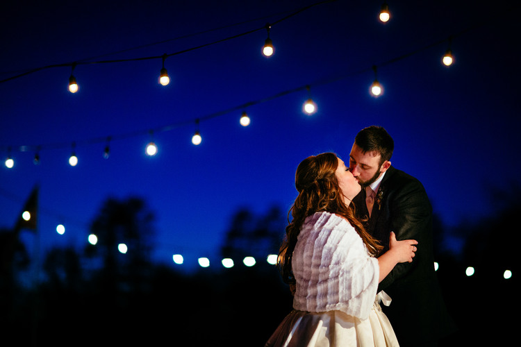 Laura + Chris   Northern Minnesota Winter Wedding's twinkle!