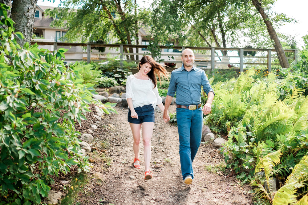 Brainerd wedding couple engagement session at Madden's Resort